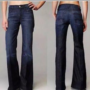 7 for all mankind dark wash ginger jeans